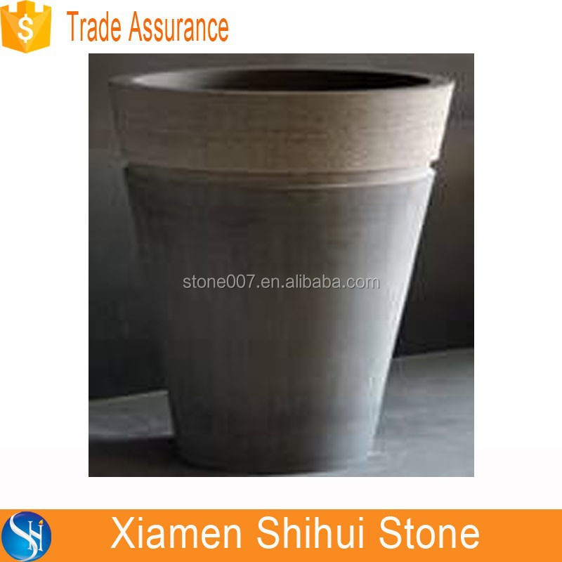 Custom made Natural Stone round pedestal basin