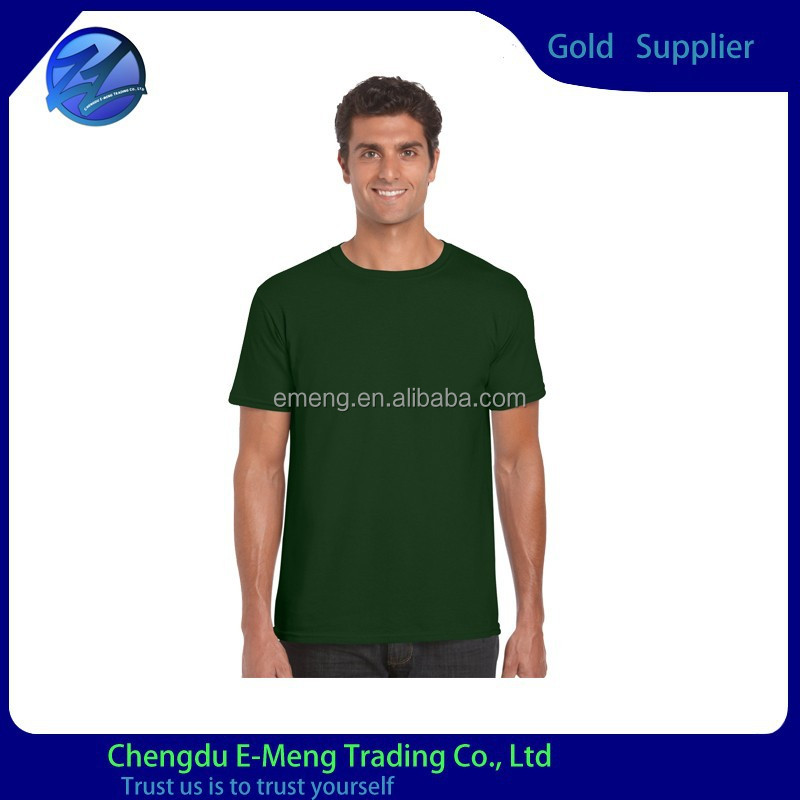 New Design O-neck Men's Factory Price Cotton Net T shirts in Dark Green