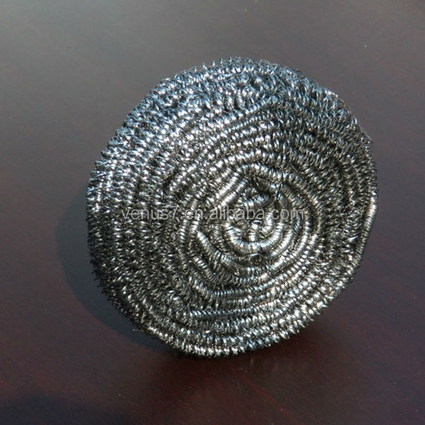 JX-AS Kitchen cleaning Stainless steel wire ball, spiral scourer high quality