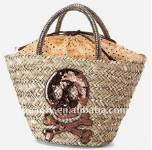 2013 cheaper price women's attractive seagrass tote bags
