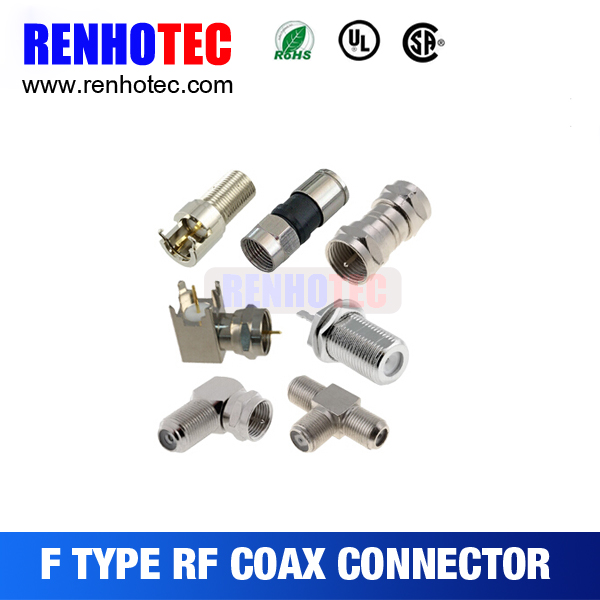 2016 factory price catv 75ohm waterproof rg11 coaxial cable f crimp type connector