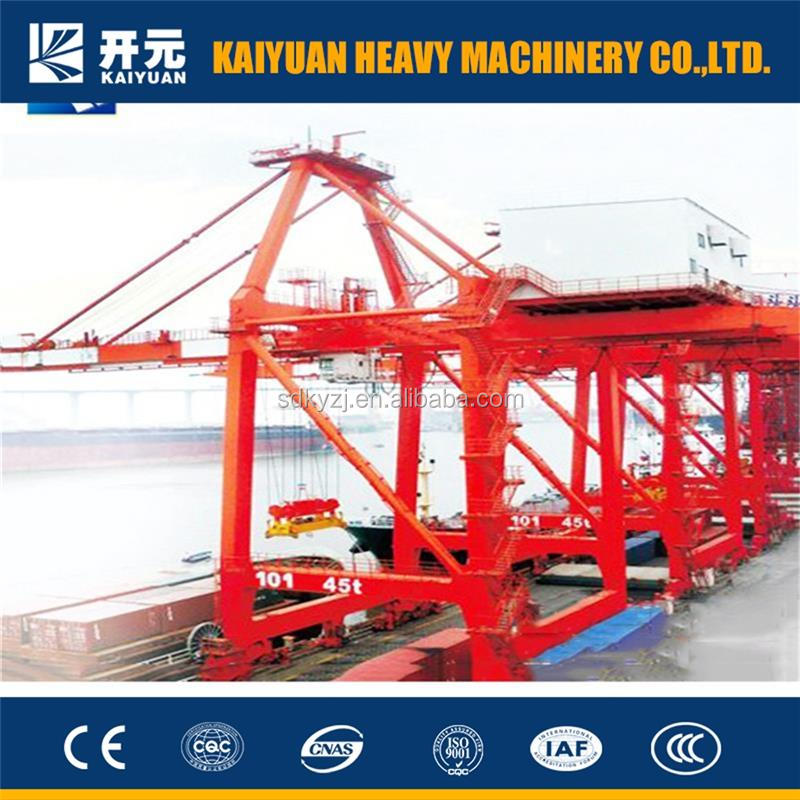 A high efficiency 55 t heavy duty shore crane that used at seaport to handle the containers for Saudi Arabia and Spain