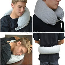 Pliable Microbead travel Pillow with Adjustable Strap