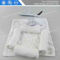 Qantas Airways 100 cotton aviation towel disposable factory sales made in china supplier