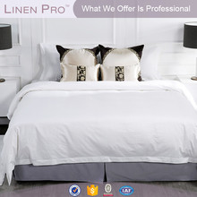 LinenPro 100% cotton white bed sheet hotel linens manufacturer in india,hotel linen set best price,full size hotel bed linens