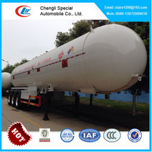50CBM 3 axles auto LPG tank semi trailer/tri-axle LPG tank truck trailer/other volume available