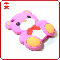 Hot Selling Teddy Bear Cute Animal Silicone Mobile Phone Case for Iphone 4