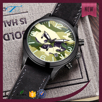 Hot Sale Sport Multifunction Water Resistant Mens Quartz Goldlis Stainless Steel Back Watch