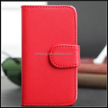 yiwu high quality pure color leather magnetic snap wallet phone case for 5G