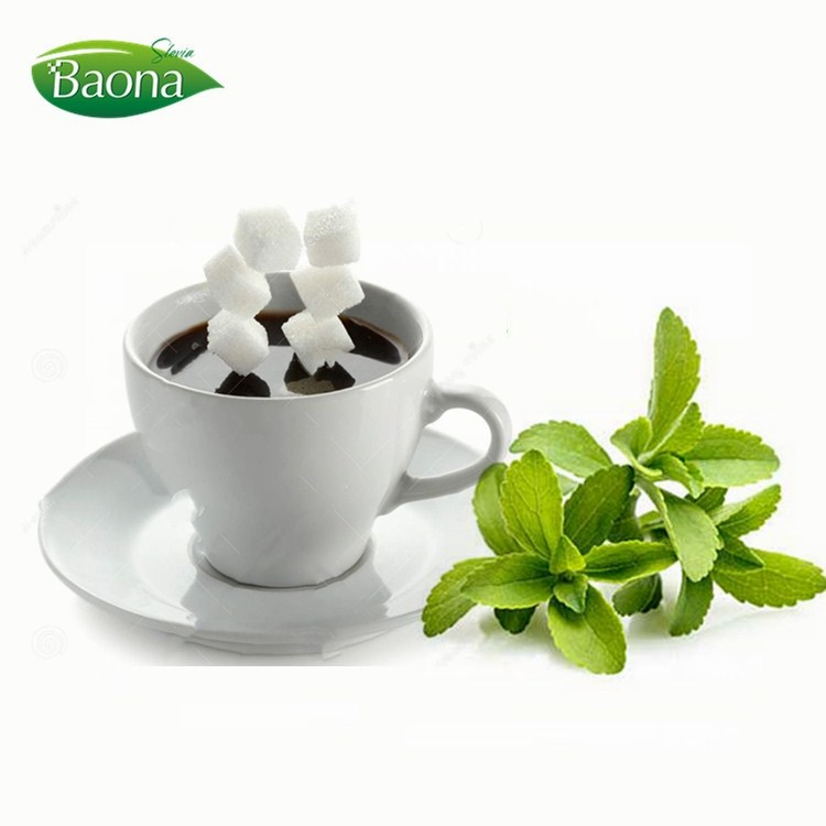 stevioside cubes sugar 0 zero calorie tabletop sweetener stevia RA98% and erythritol for coffee