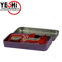 Candy Mint Tin Box Hinged In Packaging Metal Boxes