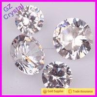 White Round Synthetic Cubic Zircon Stone Gem Stone