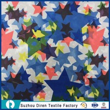 China Supplier Custom Pu Coated Waterproof Speaker Five-pointed star printed Poly Oxford Fabric