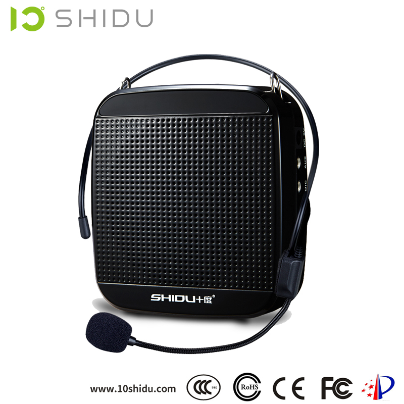 SHIDU high quality portable 18w crown power amplifier with headset microphone