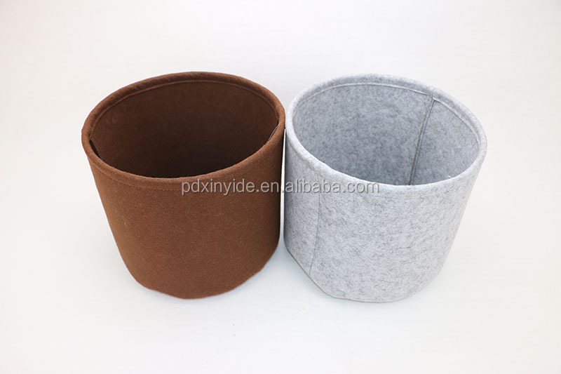 New arrival 100% recycled wool felt storage basket/bin for home