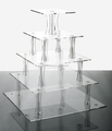cheap elegant clear 4 tier acrylic wedding cake stand round acrylic cupcakes display shelf plexiglass cup cake holder