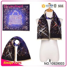 Sky Satin Silk Scarf Kerchief