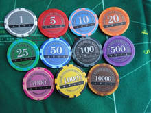 poker chip with tournament 8 strip