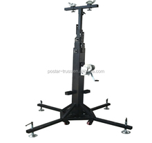 2~6m adjustable height hand crank lifts for lifting speaker,aluminum truss