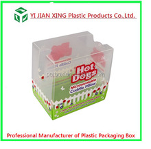 Custom Screen Printing Transparent Plastic PVC Pillow Packaging Box