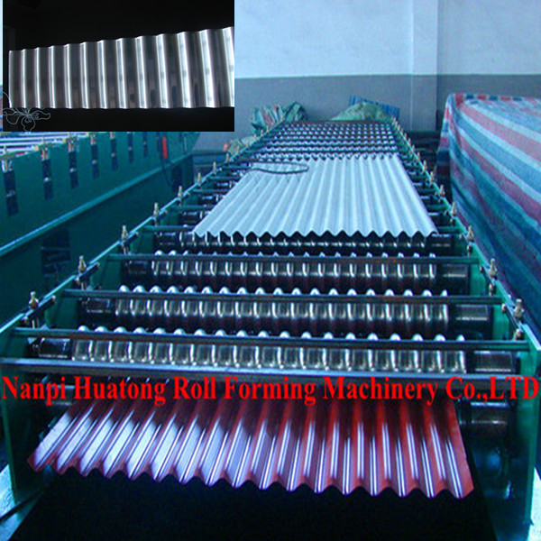 HT18-63.5-1016 corrugated panel roll forming machine