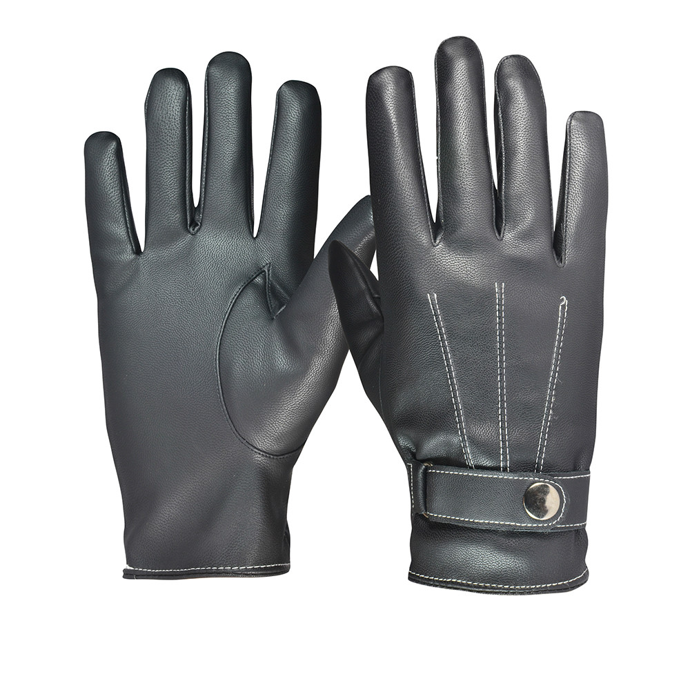 Mens cheap leather deer skin waterproof fashion gloves for promotion