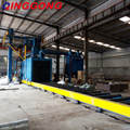 truck roller conveyor shot blasting machine
