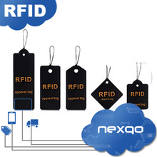 Low cost professional RFID UHF paper garment hang tag rivets