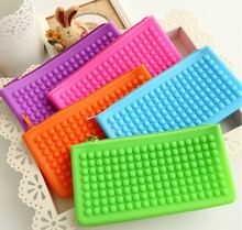 Women Fashion Soft Rectangle Shape Silicone Coin Purse