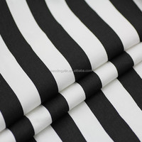 100% Cotton Black White Stripe Fabric