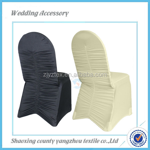 Wholesale Wedding Ruffled Spandex Banquet Chair Cover