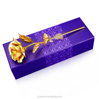 24k gold rose flowers for wedding gifts with package wholesale factory direct, valentines day gifts