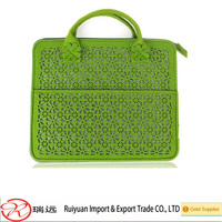 Promotional recycled polyester felt laptop bag
