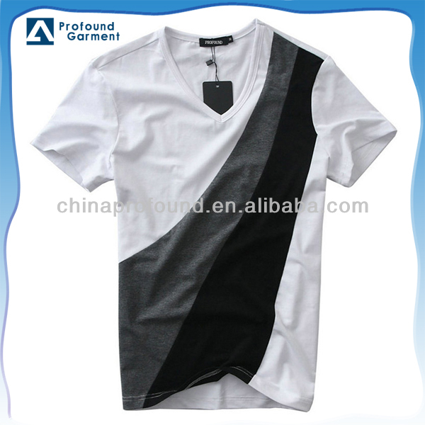 men's combination v neck t-shirt chinese clothing manufacturers factory price