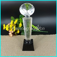 Hot sell crystal crystal awards and trophies with the ODM logo for award