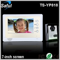 IR night vision Saful TS-YP818 1v1 cheapest 7-inch TFT LCD wired video door phone peephole video intercom