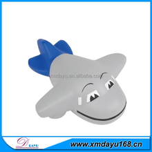 pu promotional gifts airplane stress ball with smily