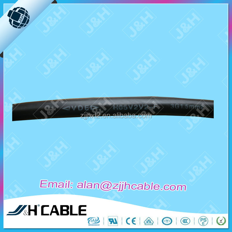 VDE Approved PVC Insulation Power Cable H05V2V2-F