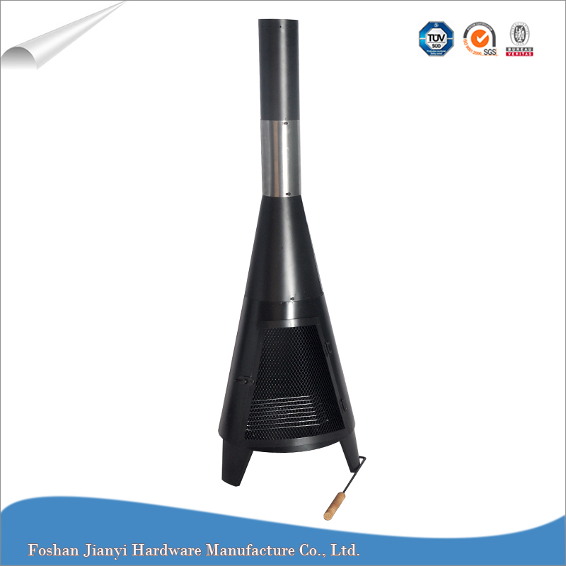 125cm High Black Deluxe Garden Mini Chiminea