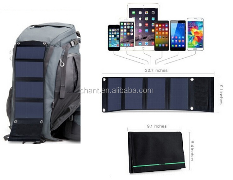 22 w highly efficient solar charger solar mobile power bank solar panels,solar power charger bag