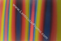 Lenticular PVC Fabric Sheets Apparel Gradient Color Red Yellow Green Black Fashion Material