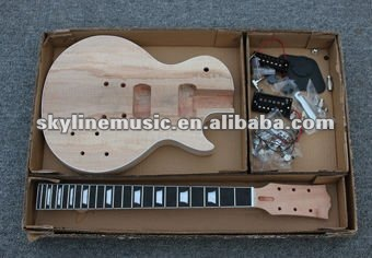 GK-LP400 SPALTED MAPLE LP STYLE DIY ELECTRIC GUITAR LUTHIER BUILDER KIT