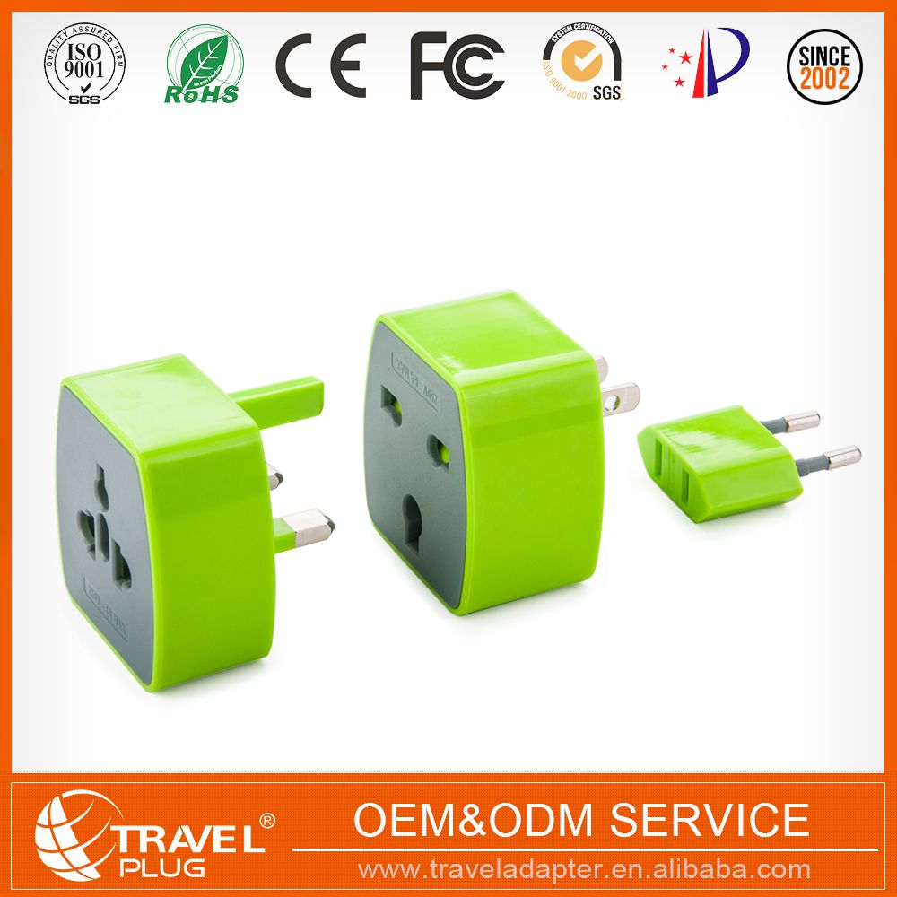 Universal Wireless 3 Pin Male To Female Electrical Plug Adapter