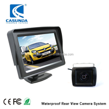 Car reversing camera kit with 4.3 inch TFT LCD monitor and 480TVL rearview camera