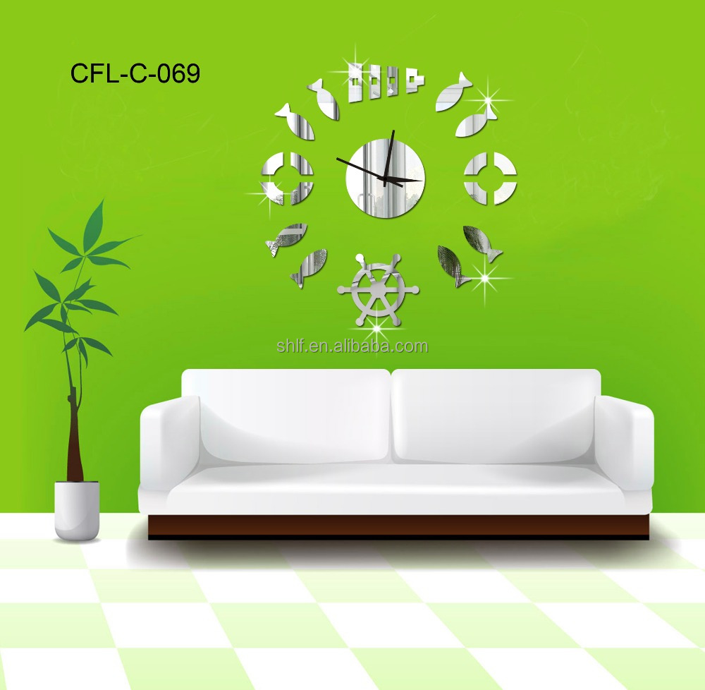 why to order home decor mirror sun shaped frameless wall clock