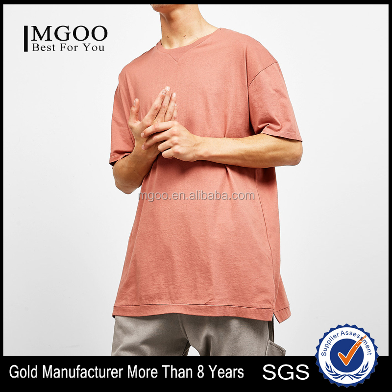 MGOO Wholesale Cotton Plain Streetwear Fashion Softex Round Neck T-Shirts OEM Big Quality T-shirt Manufacturer