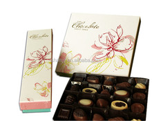 Chinese 5 years gold supplier chocolate boxes ,custom logo chocolate boxes with ribbons