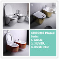 10 YRS WARRANTY Rimless, Tornado Ceramic GOLD PLATED COLOR Wall Hung Toilet