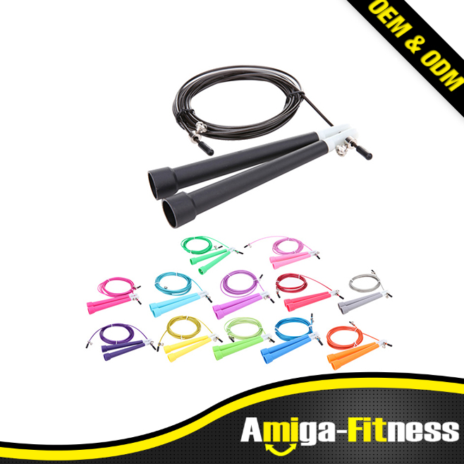 Customized Logo Cheap Gym Speed Cable Wire Speed Skipping Adjustable Skip Jump Ropes
