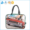Light weight waterproof pu leather tote bag for travel toiletry